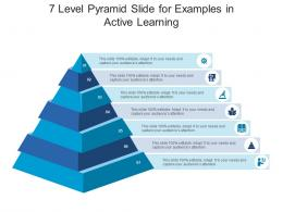 7 Level Pyramid Slide For Examples In Active Learning Infographic Template