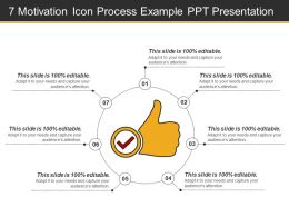 7 Motivation Icon Process Example Ppt Presentation