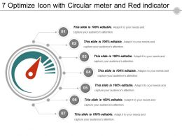 7 Optimize Icon With Circular Meter And Red Indicator