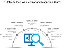 7 Optimize Icon With Monitor And Magnifying Glass