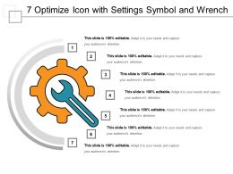 7 Optimize Icon With Settings Symbol And Wrench