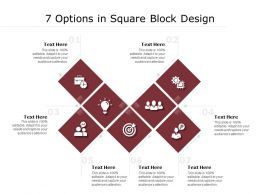 7 Options In Square Block Design