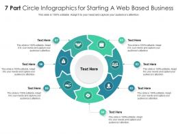 7 Part Circle For Starting A Web Based Business Infographic Template