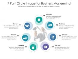 7 Part Circle Image For Business Mastermind Infographic Template
