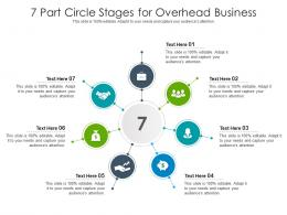 7 Part Circle Stages For Overhead Business Infographic Template