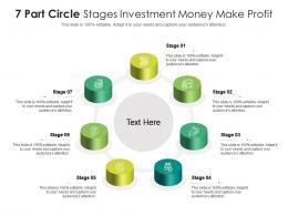 7 Part Circle Stages Investment Money Make Profit Infographic Template