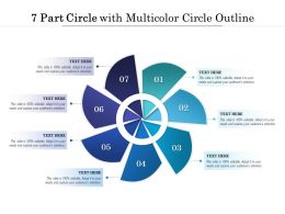 7 Part Circle With Multicolor Circle Outline