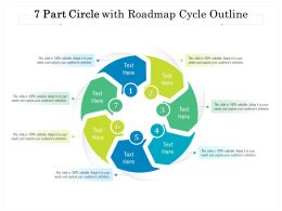 7 Part Circle With Roadmap Cycle Outline