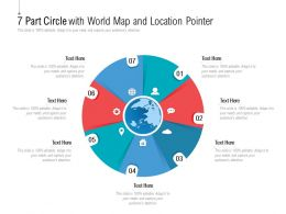 7 Part Circle With World Map And Location Pointer