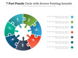 7 Part Puzzle Circle With Arrows Pointing Inwards