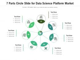 7 Parts Circle Slide For Data Science Platform Market Infographic Template