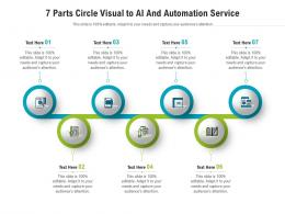 7 Parts Circle Visual To AI And Automation Service Infographic Template