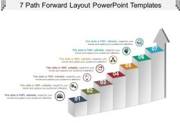 7 Path Forward Layout Powerpoint Templates