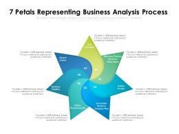7 Petals Representing Business Analysis Process