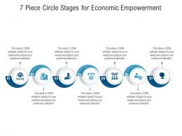 7 Piece Circle Stages For Economic Empowerment Infographic Template