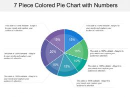 7 Piece Colored Pie Chart With Numbers