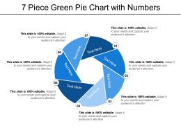 7 Piece Green Pie Chart With Numbers