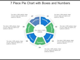 7 Piece Pie Chart With Boxes And Numbers
