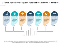 7 Piece Powerpoint Diagram For Business Process Guidelines Ppt Icon