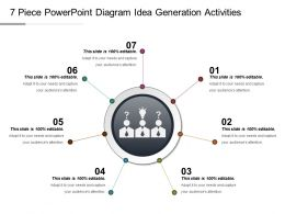 7 Piece Powerpoint Diagram Idea Generation Activities Ppt Slide Show