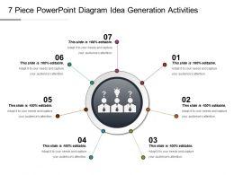 7 Piece Powerpoint Diagram Idea Generation Activities Ppt Slide Show