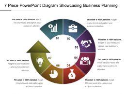 7 Piece Powerpoint Diagram Showcasing Business Planning Ppt Slide