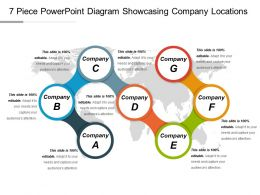 7 Piece Powerpoint Diagram Showcasing Company Locations Ppt Slide Styles