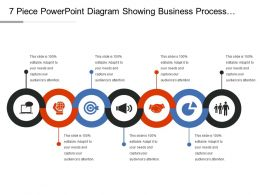 7 Piece Powerpoint Diagram Showing Business Process Components Ppt Samples