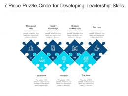 7 Piece Puzzle Circle For Developing Leadership Skills