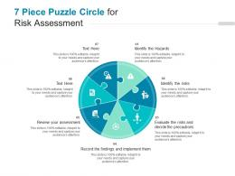 7 Piece Puzzle Circle For Risk Assessment