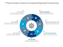 7 Piece Puzzle Circle To Increase Employee Productivity