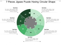 7 Pieces Jigsaw Puzzle Having Circular Shape