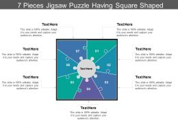 7 Pieces Jigsaw Puzzle Having Square Shaped