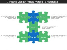 7 Pieces Jigsaw Puzzle Vertical And Horizontal