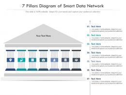 7 Pillars Diagram Of Smart Data Network Infographic Template