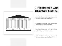7 Pillars Icon With Structure Outline