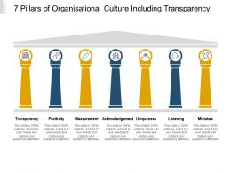 7 Pillars Of Organisational Culture Including Transparency