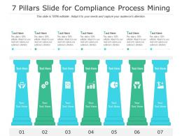 7 Pillars Slide For Compliance Process Mining Infographic Template