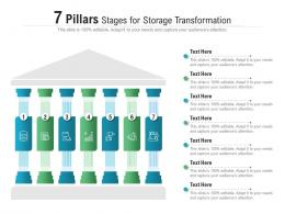 7 Pillars Stages For Storage Transformation Infographic Template