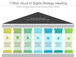 7 Pillars Visual Of Digital Strategy Meeting Infographic Template