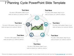 7 Planning Cycle PowerPoint Slide Template