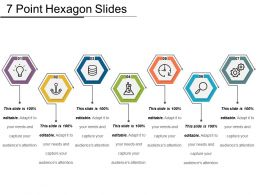 7 Point Hexagon Slides Good Ppt Example