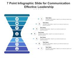 7 Point Slide For Communication Effective Leadership Infographic Template