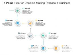 7 Point Slide For Decision Making Process In Business Infographic Template