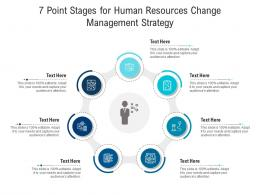 7 Point Stages For Human Resources Change Management Strategy Infographic Template