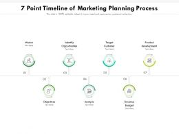 7 Point Timeline Of Marketing Planning Process