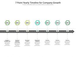 7 Point Yearly Timeline For Company Growth