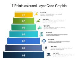 7 Points Coloured Layer Cake Graphic