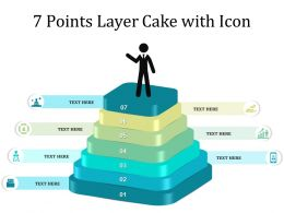 7 Points Layer Cake With Icon
