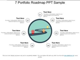 7 Portfolio Roadmap Ppt Sample